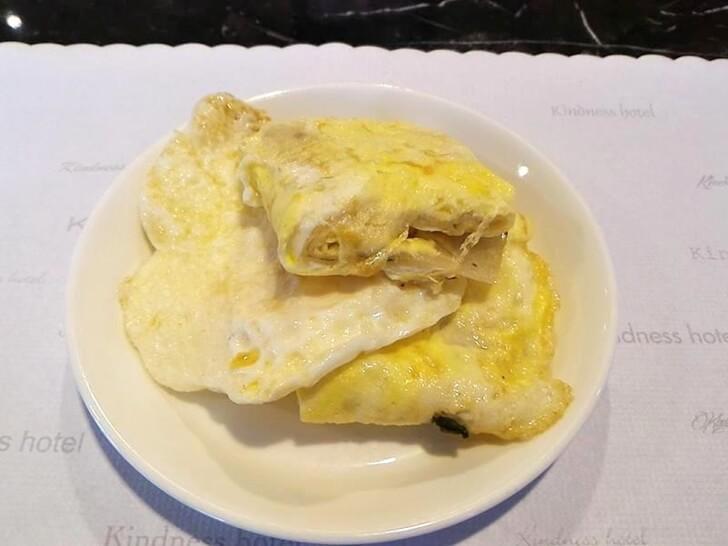荷包蛋與原味蛋餅